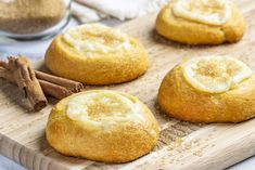 Easy Pastry Recipes, Dessert Recipes, Cooking Recipes, Breakfast Recipes, Quick Dessert, Muffin Recipes, Mini Desserts, Delicious Desserts, Yummy Food
