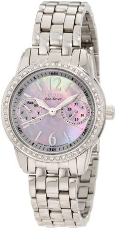 Citizen Women's FD1030-56Y Eco-Drive Silhouette Crystal Watch Citizen. $200.60. Water-resistant to 100 M (330 feet). Mineral glass crystal. Stainless steel. Eco-drive. Swarovski crystal bezel, day, date. Save 32% Off!