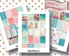 Vintage Stickers // Retro Stickers // Pink Vintage Stickers // Vintage Floral Stickers // Erin Condren Life Planner // Printable Stickers // Erin Condren Life Planner // Monthly set // Planner Stickers // Stickers By Petit Planner on Etsy