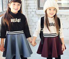 Hello Yoko Dress by Peach & Cream - Winter 2014 - Korean Children Fashion - #Kfashion4kids