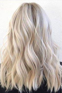 Ling ash blonde wavy textured hair