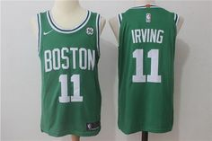 Nike Men's Boston Celtics Kyrie Irving #11 Jersey Swingman Green Stitched Jersey