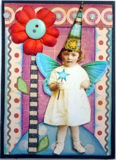 Card or tag inspiration. whimsey fairy swap | Flickr - Photo Sharing!