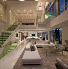 3 story Miami penthouse Interiors By Steven G