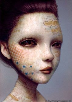 """""""Recollection 05"""", 4.1 x 5.8 inches, acrylic on board, Naoto Hattori"""