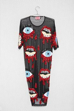 DI$COUNT TRA$H Bleeding Sequin Dress