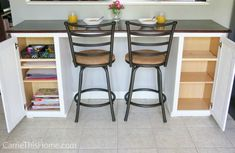"""DIY Breakfast Bar – an easy weekend project you can do! Fantastic """"bar furniture"""" info is readily available on our web pages. Check it out and you will not be sorry you did. Small Breakfast Bar, Breakfast Bar Worktop, Breakfast Bar Table, Breakfast Bars, Breakfast Nooks, Bar Furniture For Sale, Kitchen Furniture, Furniture Ideas, Primitive Furniture"""