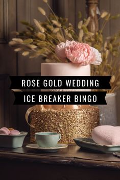 Is there a wedding with rose gold as the color coming up? Here's a printable ice breaker bingo game that will fit your color scheme. Great for a bridal shower, wedding party and bachelorette party. Ice Breaker Bingo, Human Bingo, Wedding Party Games, Rose Gold Theme, Gold Bridal Showers, Ice Breakers, Secret Santa Gifts, Bingo Cards, Bridal Shower Games