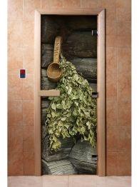 Дверь для бани и сауны с фотопечатью А003, DoorWood Outdoor Structures