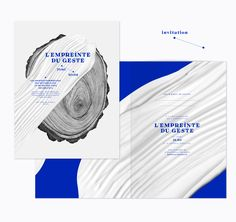"We created the identity and artistic direction of the exhibition ""L'Empreinte du geste"" at the Musée des Arts Décoratifs of Paris.We designed the title font (Tribute ) signage of the exhibition, programs and press kit and made the illustration of the woo…"