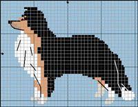 Shetland Sheepdog (tricolor) knitting pattern Knitting Charts, Baby Knitting, Knitting Patterns, Pet 1, Puppy Day, Rough Collie, Dog Crafts, Shetland Sheepdog, Bargello