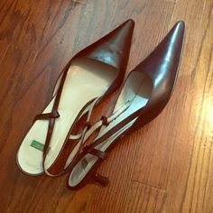 Black dress shoes Worn a couple of times. Good shape overall. No damage. Size 39 Euro. United Colors Of Benetton Shoes Heels