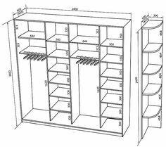стандартные размеры для гардеробной: 10 тыс изображений найдено в…