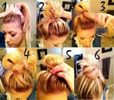 How to do a messy bun.