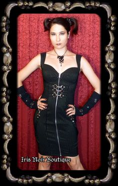 Lip Service Gangsta Pranksta Cyber Goth Buckle Dress - Dresses