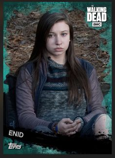 Enid (Teal Parallel) Insert Card The Walking Dead 2016 Topps