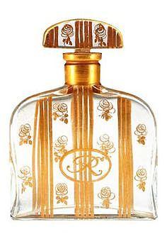 Vintage antique perfume scent bottle 'La Rose de Rosine' 1912, designed by Paul Poiret and Paul Iribe