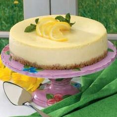"Lemon Ricotta Cheesecake Recipe  REMINDER: cut the cream in 1/2 makes enough for 11"" pie plate and 8x8 glass baker"