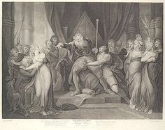 King Lear Casting Out His Daughter Cordelia (Shakespeare's King Lear, Act I, Scene I)