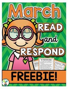 March Reading Comprehension & Written Response FREEBIE {St