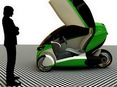 E-True 3W electric concept car - lightweight and stylish single-action tools (3)