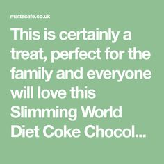 This is certainly a treat, perfect for the family and everyone will love this Slimming World Diet Coke Chocolate Cake (Low Syn). Slimming World Brownies, Slimming World Desserts, Slimming World Syns, Love Chocolate, Chocolate Cake, Diet Coke Cake, Cake Ingredients, Round Cakes, Vegetarian Chocolate