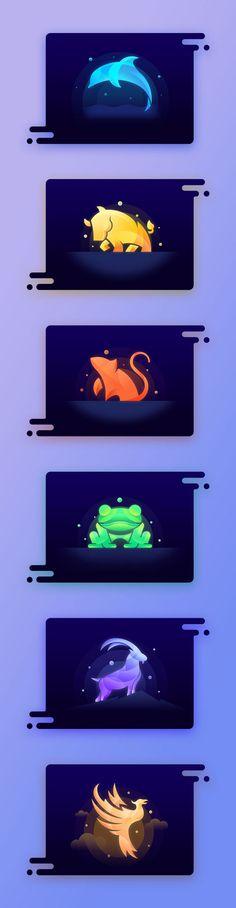 原创作品:动物图标全套(附PSD)