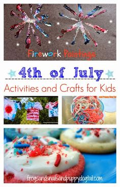 Patriotic Activities and Crafts for Kids Patriotic Torn Paper Stars: easy and fun craft for the kidsColored noodle fun for 4th of JulyJello Sensory Play For Kids: red, white, and blue style { Fourth Of July Theme}Star Center piece for Memorial Day or 4th of JulyRed, white, and blue playdough playChicken/Hen Paper Plate CraftFirework PaintingsRed, White, and Blue Goopy Doughby Sugar AuntsFine Motor and Auditory Fireworks Activityby Sugar Aunts4th of July Crafts for Baby by House of Burke
