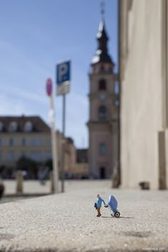 """Artist, Slinkachu, is a young artist from the UK that started """"Little People Project"""""""