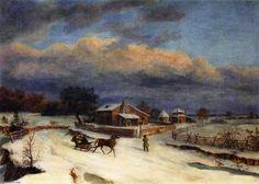Thomas Birch - Kennett Square in Winter