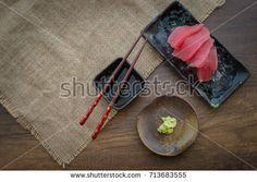 Japanese food, Maguro (Blue Fin Tuna) Sashimi, AKAMI