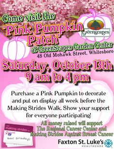 pink pumpkin patch event