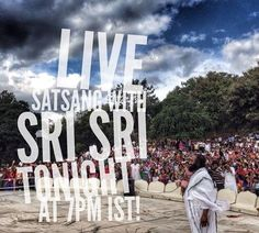 A great evening of knowledge and wisdom awaits! Join us for satsang live via webcast at 7pm. www.artofliving.org/webcast