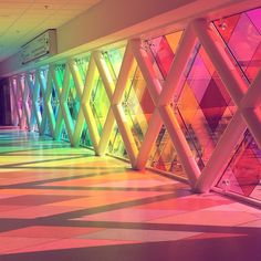 My kinda airport...❤️ #WelcomeToMiami #Rainbow #MiamiAirport #Art #Installation #HarmonicConvergence by #ChristopherJanney