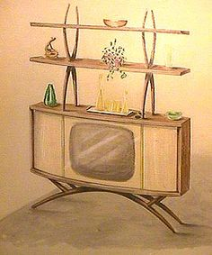 Concept Design Drawings of 1958 Philco Televisions