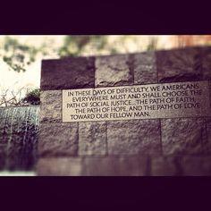 FDR memorial on the National Mall... words that still ring so true.
