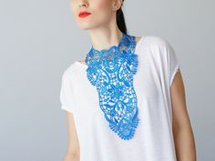 A gorgeous lace necklace to turn your everyday clothes into an elegant statement.