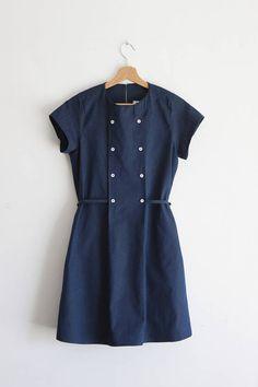 Mara denim dress 100% cotton indigo chambray. Sizes S to XL.