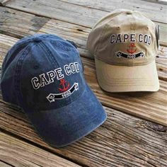 Very cool Cape Cod Anchor Baseball Hat in weathered Navy or Sand | LaBelle's