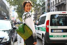 Betty's backpack was a cry for attention.  LIU WEN, MILAN