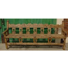 a fabulous rustic Mexican bench for my hallway
