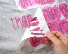 Personalizar una camiseta, pineado por www.estrellasdeweb.blogspot.com