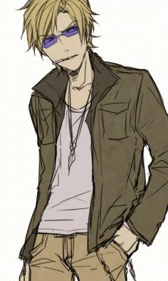 Shizuo in normal clothes