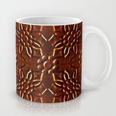 #Ornament #chocolate #candy #pattern with #flowers #motif in warm #brown colors #print #Mug by Danflcreativo - $15.00