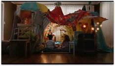 Blanket Forts:  add different things to build character