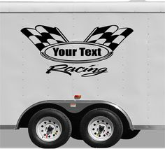 Checkered Racing Stripe Trailer Decal Vinyl Decal Car Decal - Vinyl stickers design your own
