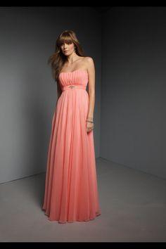 e1d5086b9637 Chiffon Floor-length Empire Ruched Bridesmaid Dress  Bridesmaid  Dress  Coral Bridesmaid Dresses