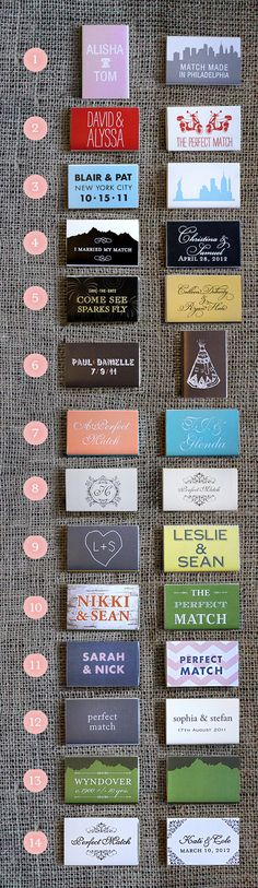 Custom Match Box Favors by TieThatBindsParties on Etsy, $1.85
