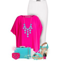 Magenta and Turquoise Spring/Summer Fashion