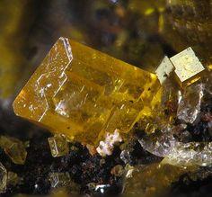 Stolzite, PbWO4 - Proprietary Mine, Broken Hill, New South Wales, Australia